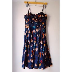 🐧NWT: Anthropologie Navy Bird Dress🐧